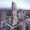 Parking-less Moishe Mana tower near rail hub hailed
