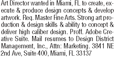 art director classified