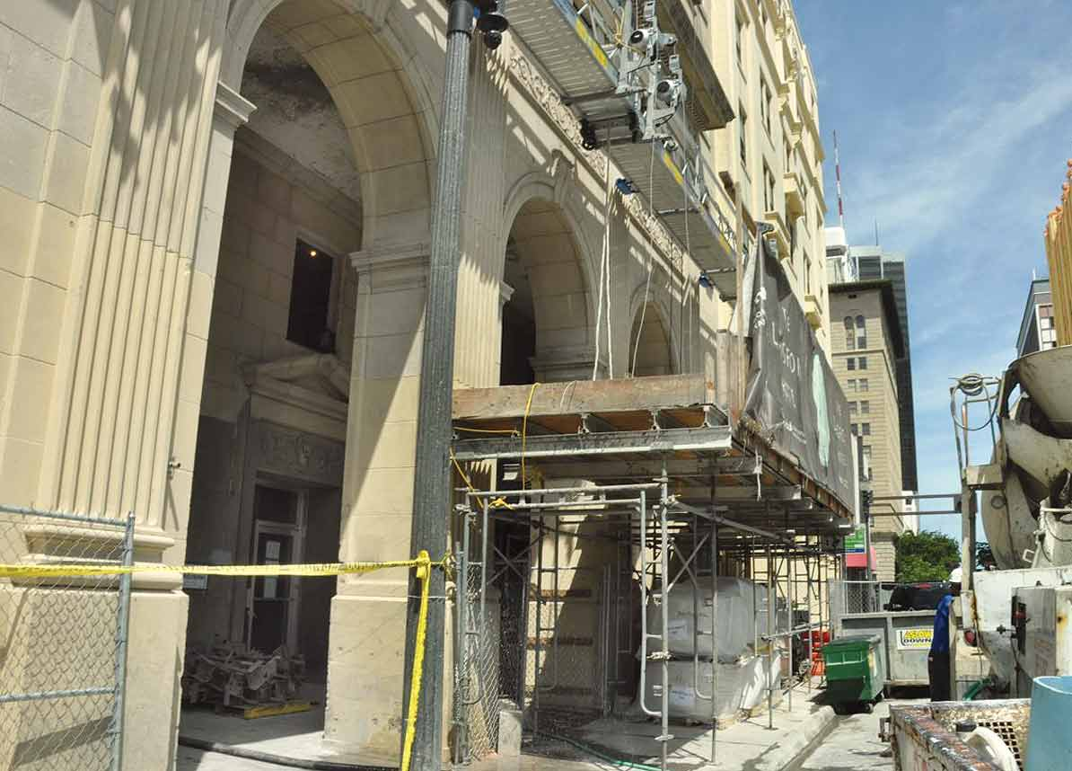 Streets shrink to protect historic buildings