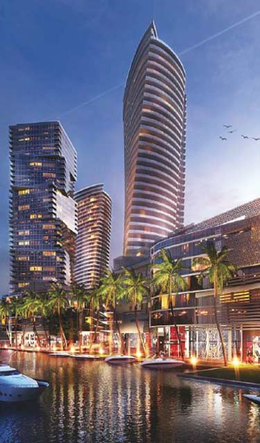 Four 60-story riverfront towers unveiled
