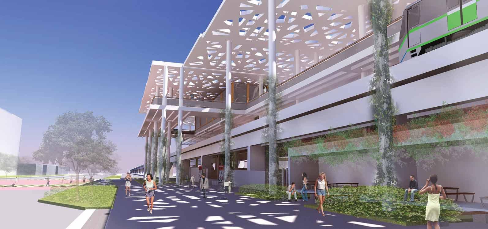 Will Miami's Metrorail shade a linear park?