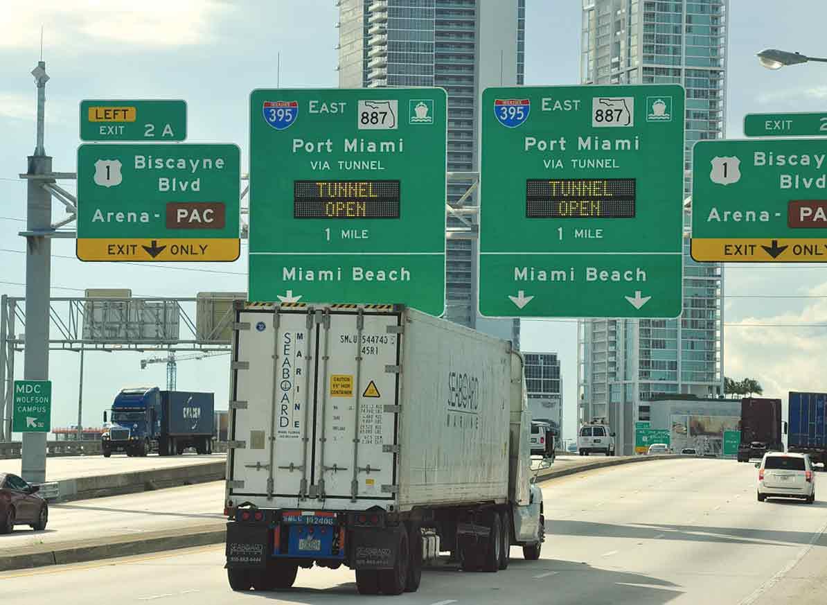 Port tunnel traffic grows