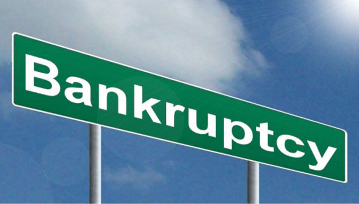 Business bankruptcies in decline