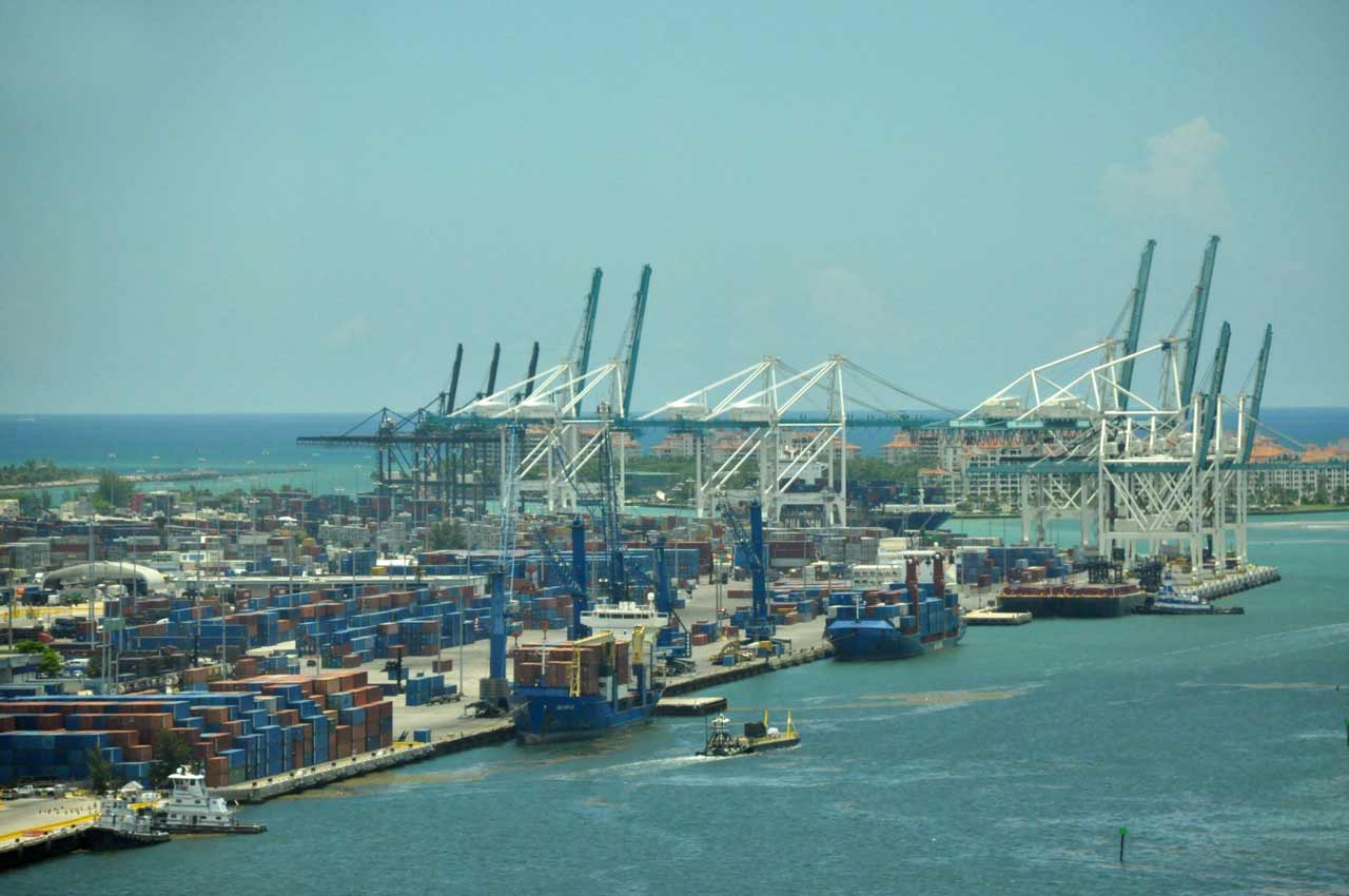 Busier port unloads its widest ship