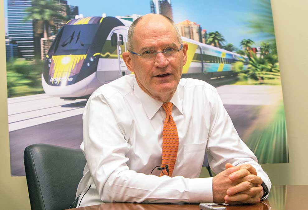 Mike Reininger: At the controls of new Brightline railway operations