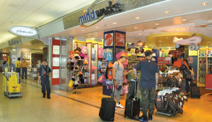 Customers now are frequent and plentiful at nationally-known retailers at the airport.
