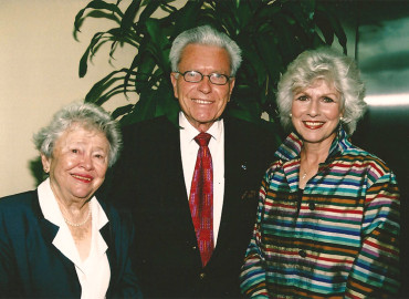 Maryann and Gregory Wolfe with Diane Rehm