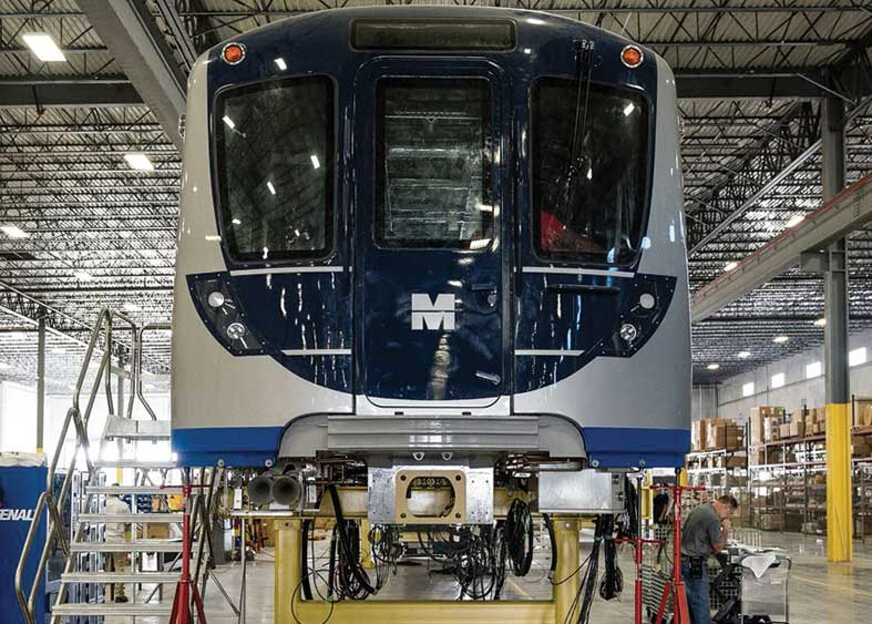 Inside Hitachi rail car assembly plant
