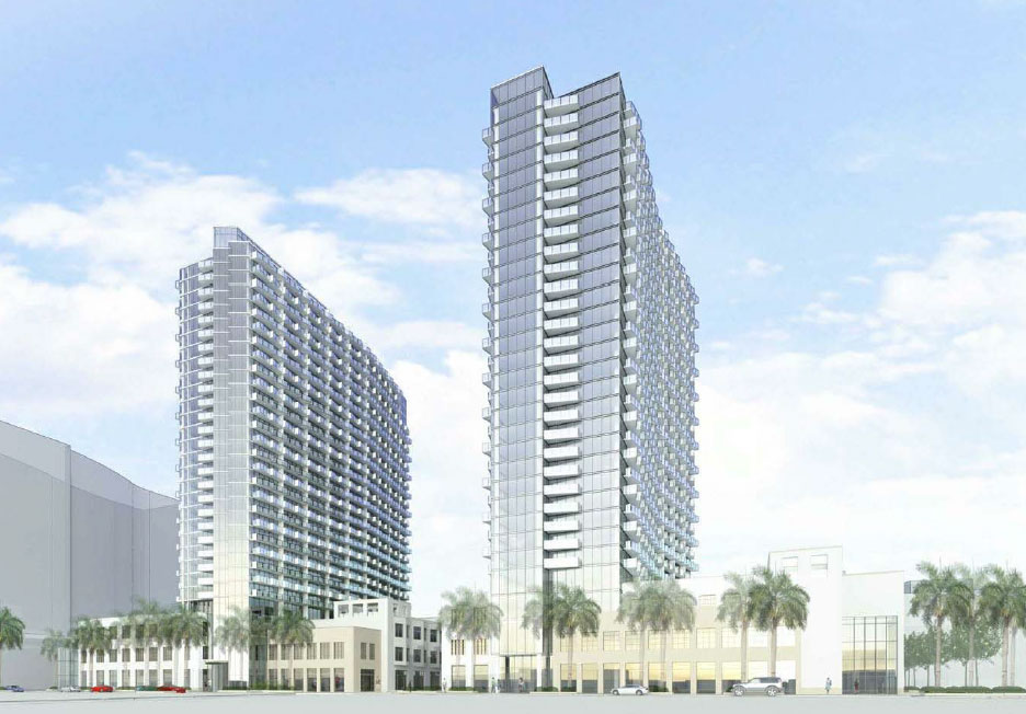 Miami OKs 838 rentals in two Midtown towers
