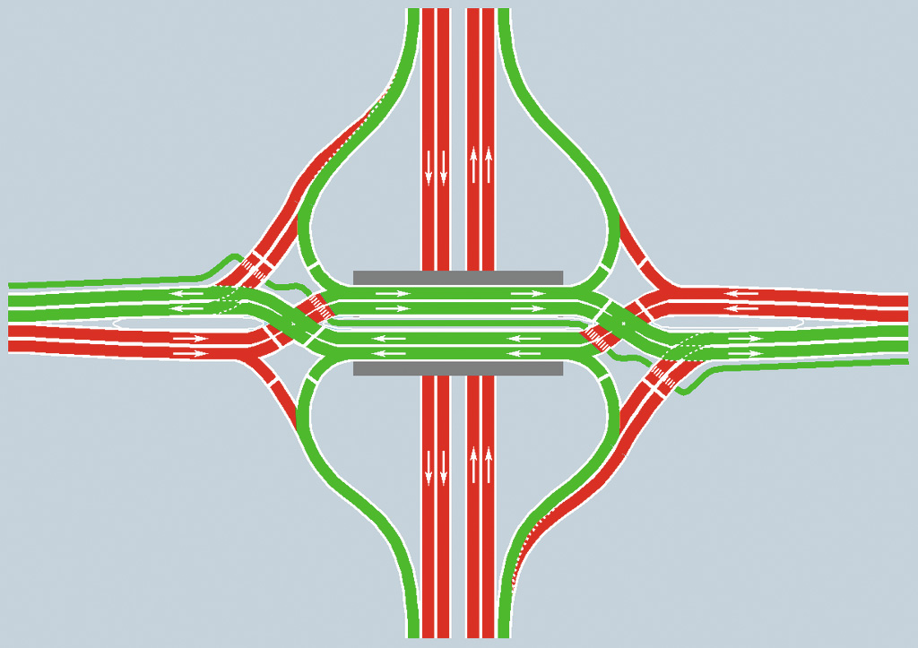 Local highways to get first diverging diamond interchanges
