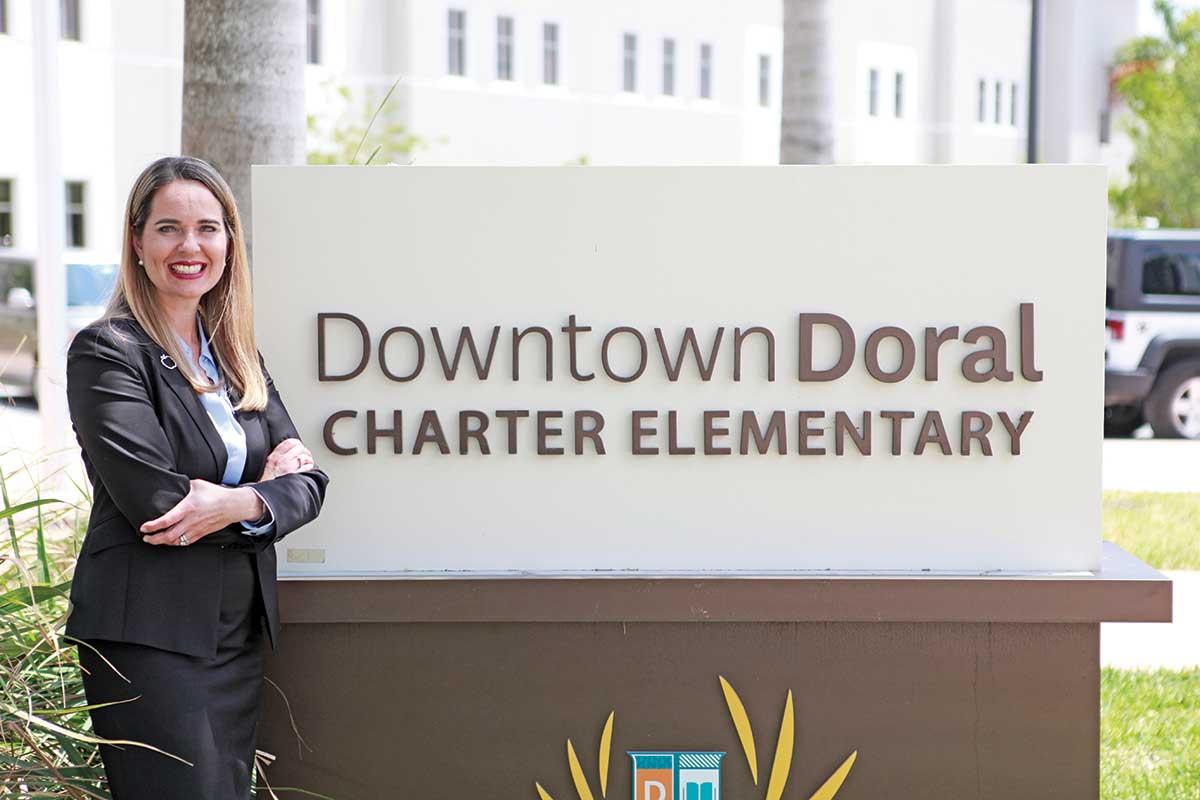 Jeannette Acevedo-Isenberg: Captains multi-lingual Downtown Doral charter school