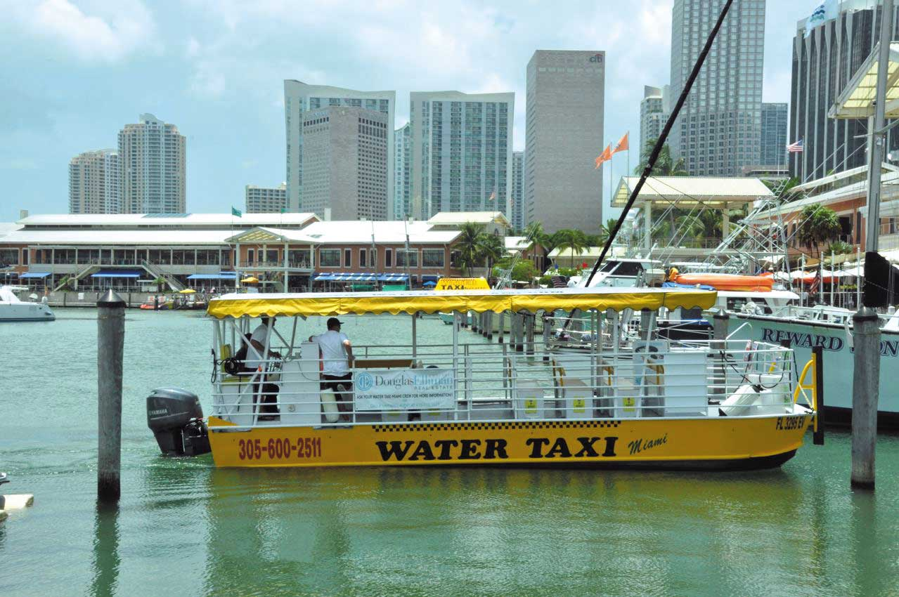 Miami designates Brickell Key for water taxi service