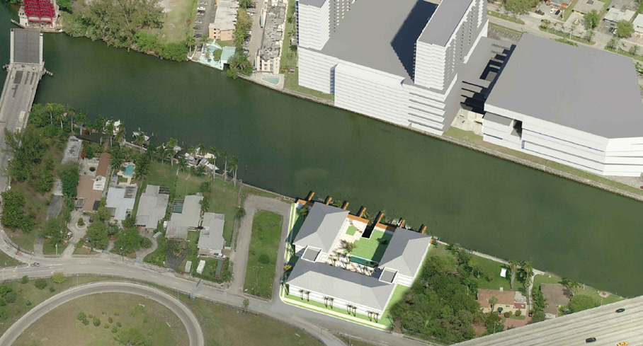 Rental apartment building proposed on shore of Miami River