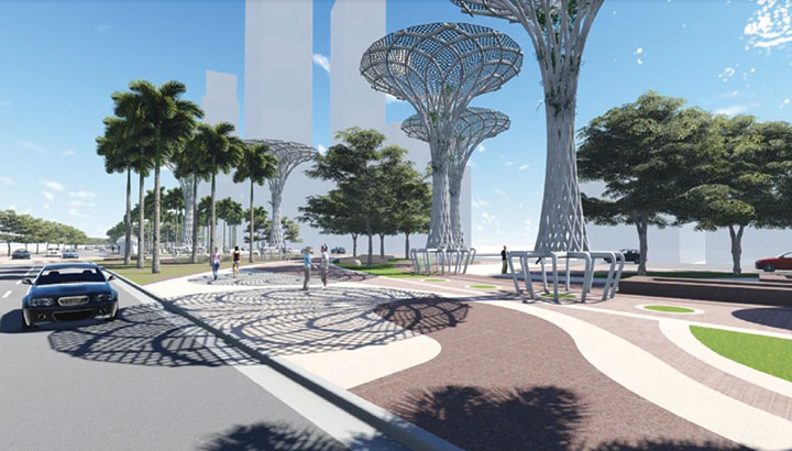 Narrowing of Biscayne Boulevard in parking department hands