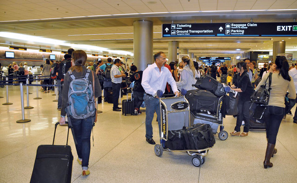 International passengers through Miami International Airport grow