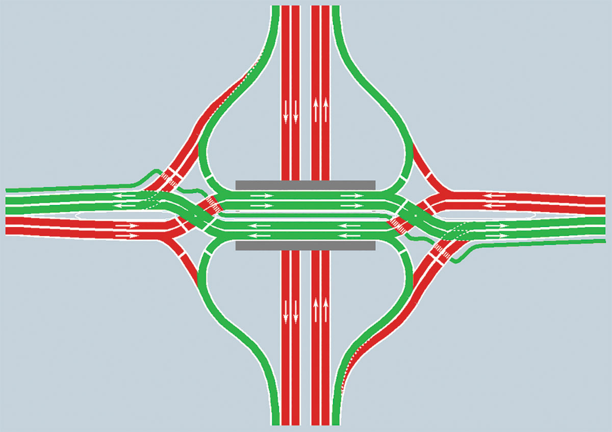 South Florida's first Diverging Diamond interchange nears