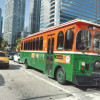 Port trolleys would roll shoppers downtown