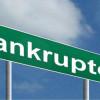 Business bankruptcies in decline