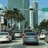 Experimental reversible traffic lanes on way