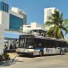 Bus depot in Omni beneath a Genting hotel rolls ahead