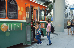 Trolley tie to Florida International University derailed