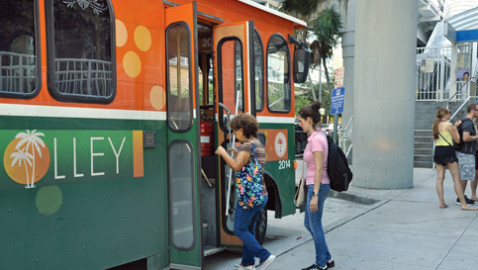 Trolley tie to Florida International University derailed