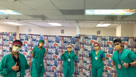 Miami City Ballet costume corps creates hospital masks