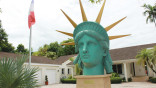 Statue of Liberty twin's head at home in Miami