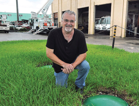 Business goes down drain without sewers
