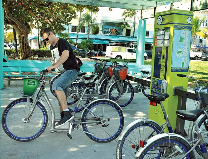Bike-sharing stations to wheel into Miami
