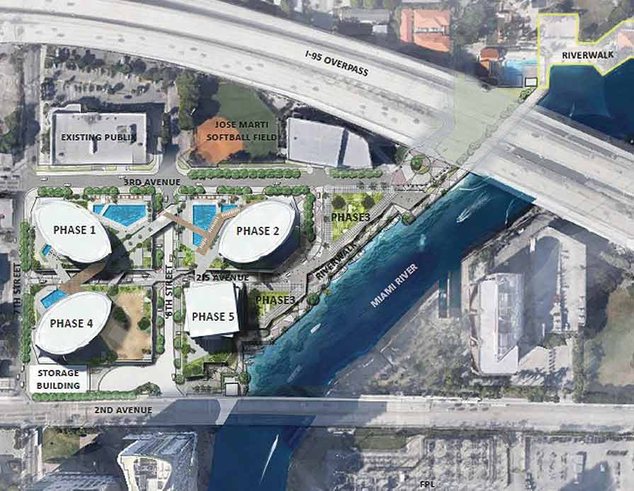 Four 60-story towers on river advance