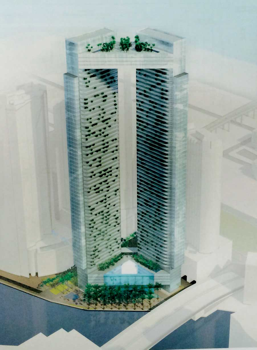 Two 60-story towers due on river