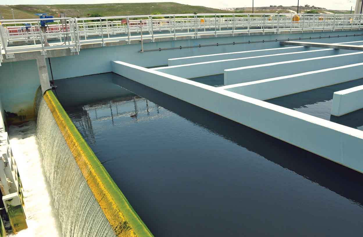 Landfill gas to power water treatment