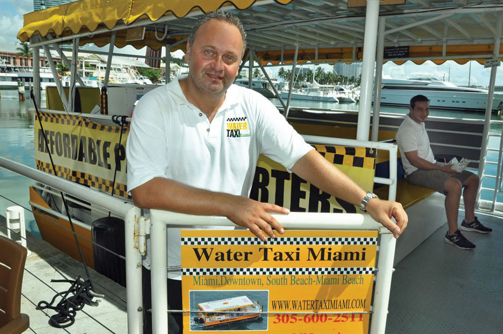 Water Taxi Miami heads for Miami Beach's Purdy Avenue