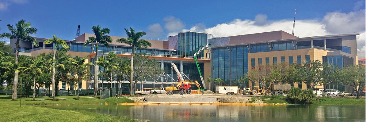 Miami Cancer Institute is near completion