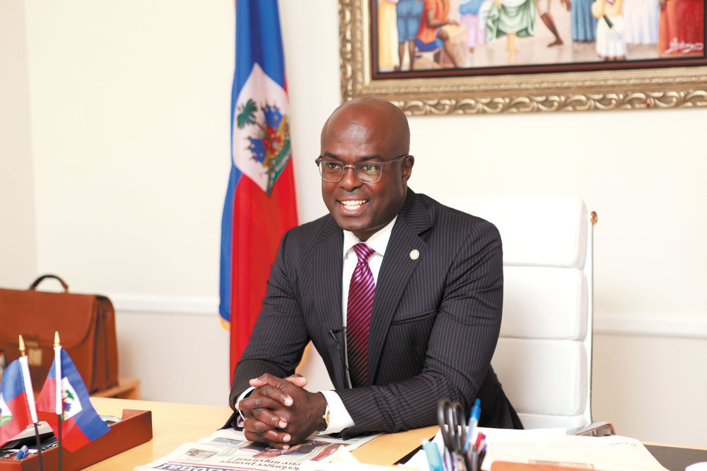 Gandy Thomas Haiti's consul general seeks university, sister city links