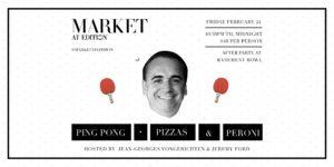 ping pong, pizza and peroni