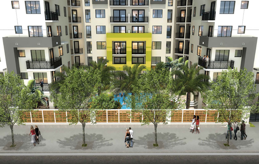 Flagler Street apartments make a splash, but pool doesn't