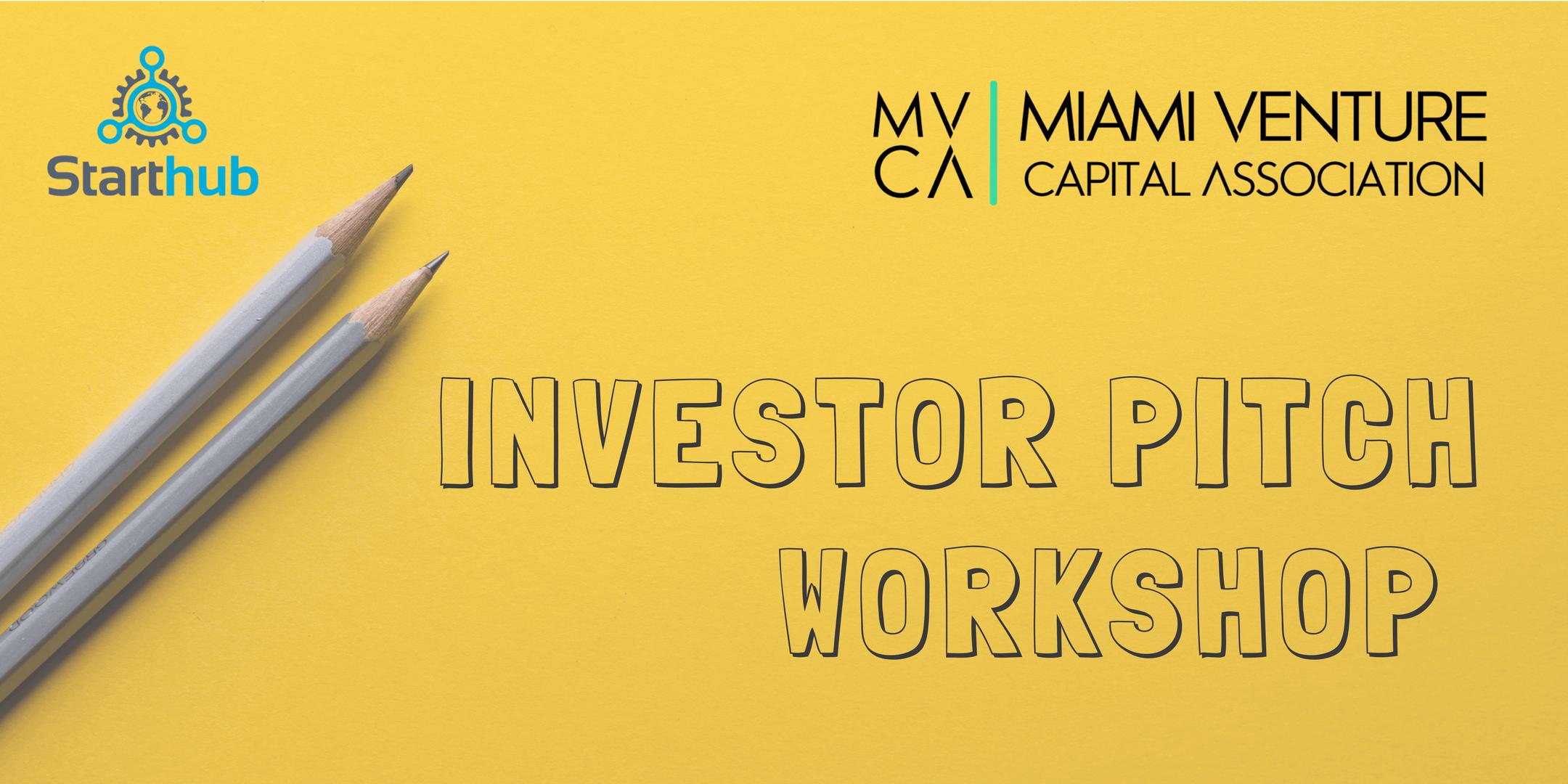 Investor Pitch Workshop