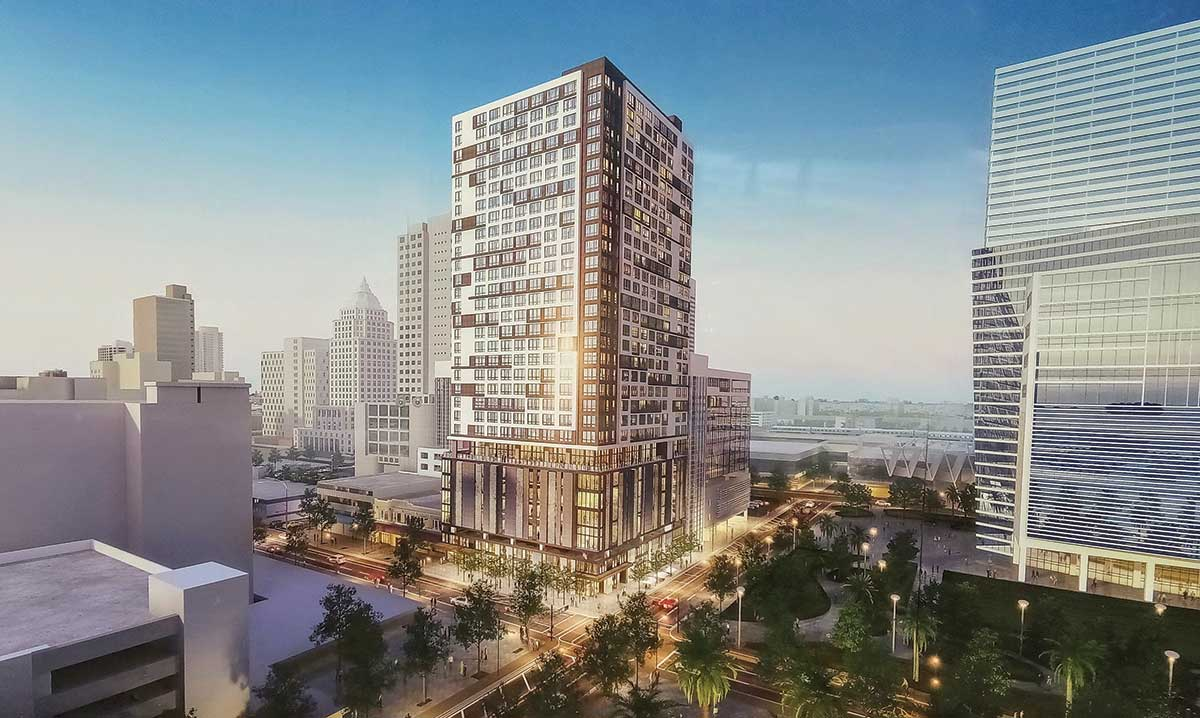 Site work on Grand Station in the heart of downtown Miami takes root with tree mitigation
