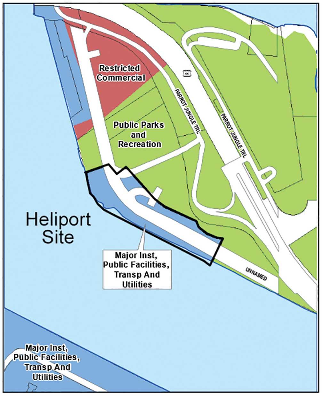 Easement opens Watson Island to heliport