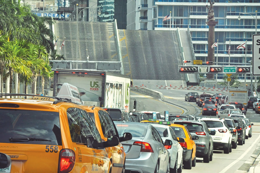 Brickell Avenue Bridge standoff over traffic goes on
