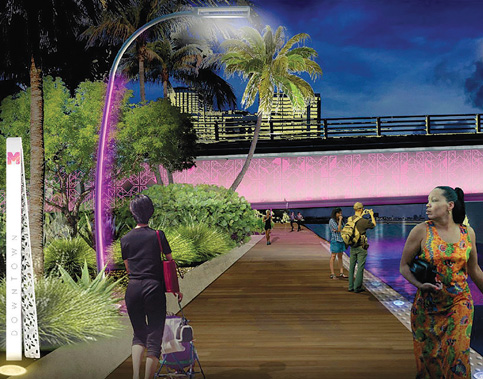 NFL kicks ahead funding for lighting Baywalk
