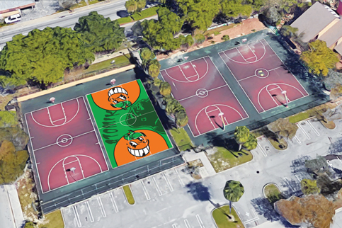 Atomik's smiling oranges won't dribble onto basketball court yet