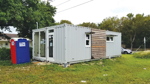 Test project shipping container home almost ready