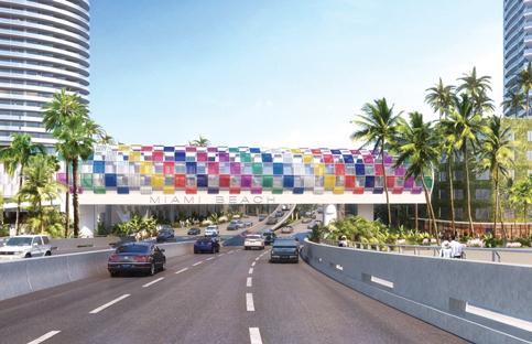 Miami Beach kaleidoscopic bridge inches toward reality