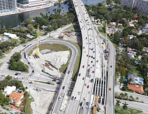 Signature bridge foundation next in I-395/SR 836/I-95 remake