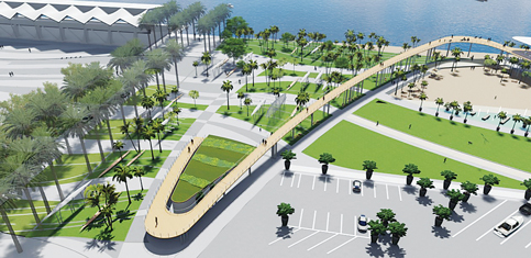 New designs of park surrounding Miami Marine Stadium