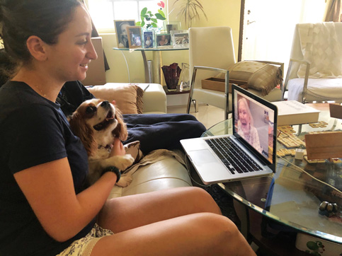 Pet therapy team sticks doggedly to nursing home – via Skype