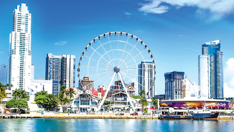 Downtown Miami observation wheel prepares to roll